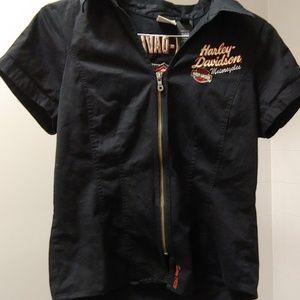 Harley Davidson women's zip up shirt